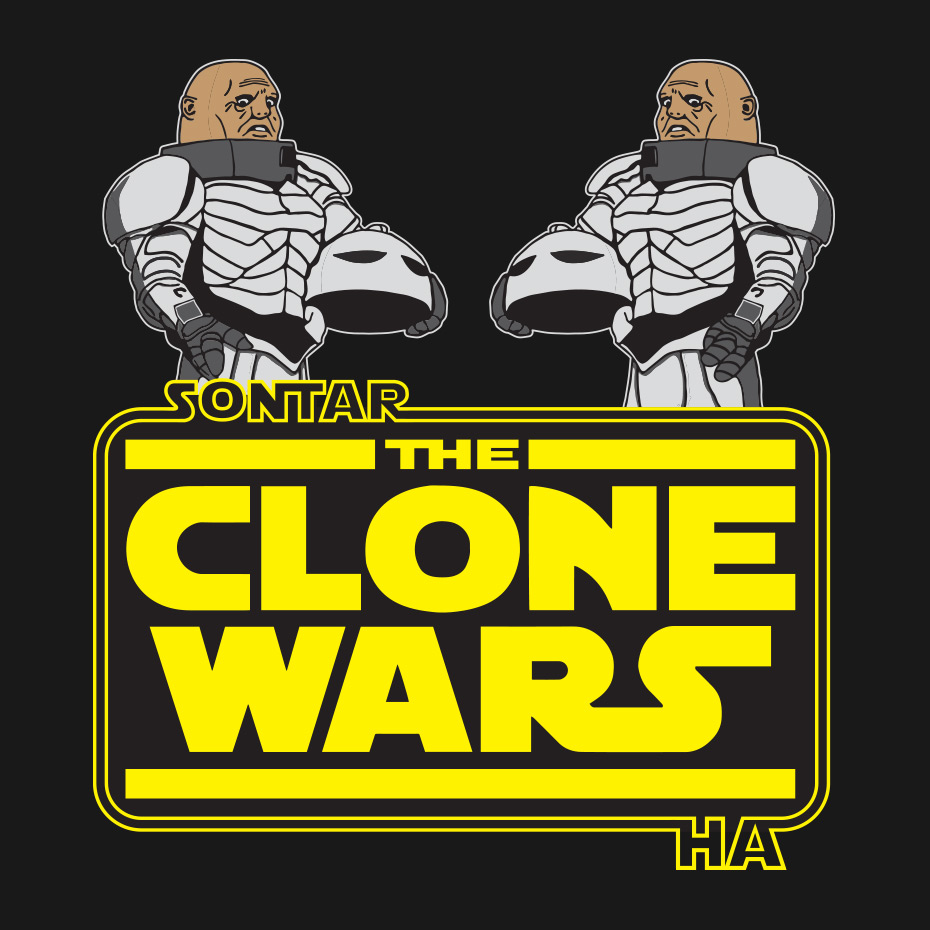 Doctor Who's Sontarans fighting the Star Wars Clone Wars
