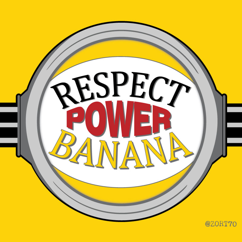 Minions Respect Power Banana T-Shirt