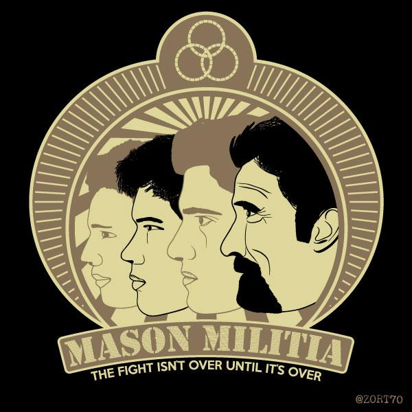 Falling skies Mason Militia T-Shirt