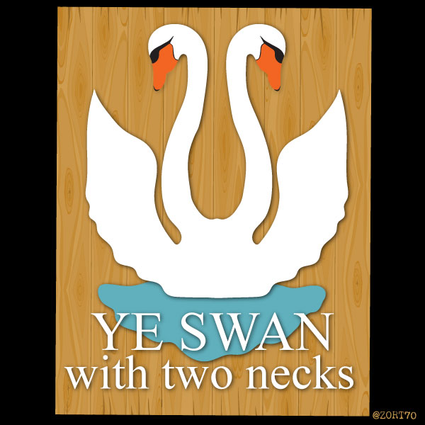 Swan with 2 necks pub sign